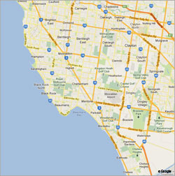 Servicing Bayside, Glen Eira & Kingston Areas Map