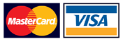 We accept: Visa, Mastercard
